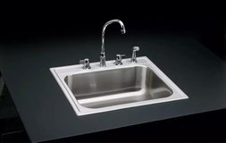 "Elkay  Signature Drop-in  Stainless Steel  25""  4-Hole Single Basin Kitchen Sink    Extra Deep in Chicago, Illinois"