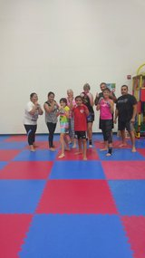 Kickboxing challenge in Travis AFB, California