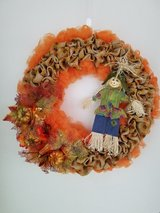 Scarecrow Fall Wreath in Fort Leonard Wood, Missouri