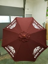 Brand new Kirin Beer 7' fabric umbrella Scotch guard in Westmont, Illinois