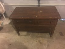 Old wood dresser in Fort Campbell, Kentucky