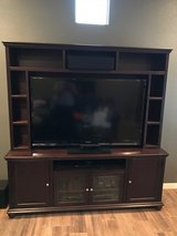 All wood TV Stand with Hutch in Fort Bliss, Texas