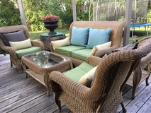 : ) ALL WEATHER WICKER PATIO FURNITURE :  PERFECT FOR OUTDOORS OR SUNROOM !!!! in Plainfield, Illinois