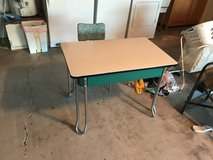 vintage metal desk and chair in 29 Palms, California