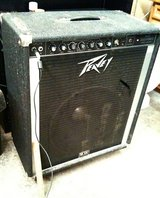 "Peavey 115 bass amp combo on casters, single 15"", EQ, works great in Fort Lewis, Washington"
