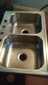 STAINLESS STEEL DOUBLE SINK in Warner Robins, Georgia