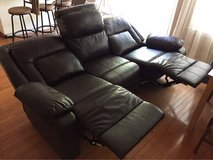 Leather couch home cinema couch, recliner in Fairfield, California