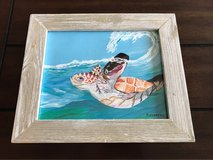 sea turtle wave painting in Okinawa, Japan