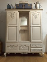 Vinatge Shabby Chic Entryway Armoire with sliding doors. in Ramstein, Germany