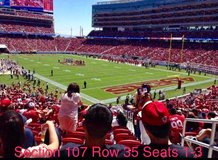 49ers vs Rams 9/21/17 in Vacaville, California