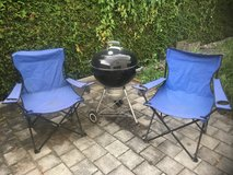 Weber grill and 2 folding chairs in Ramstein, Germany
