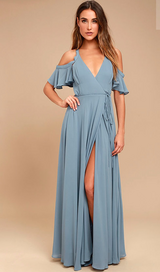 Formal wrap gown in Travis AFB, California