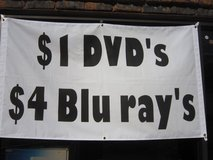 $1.00 DVD's and $2.00 and $4.00 BLUERAY's in Waukegan, Illinois