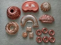 Vintage Copper Molds in Naperville, Illinois