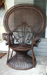 Beautiful Peacock Wicker Chair in Dover, Tennessee