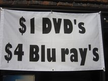 $1.00 DVD's and $2.00 and $4.00 BLUERAY's in Brookfield, Wisconsin