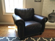 Dark Brown Leather Chair in Bolingbrook, Illinois