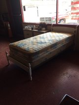 White Twin Bed With Serta Mattress Set in DeRidder, Louisiana