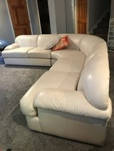 Leather Sectional Off White in Plainfield, Illinois