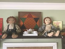 Vintage Boy and Girl Signed Donna Gilbert Rag Doll Set in Plainfield, Illinois