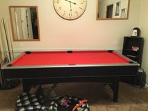 Red top 7' Pool Table with Table Tennis features in Houston, Texas