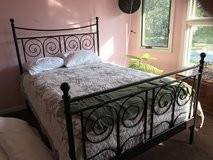 Double bed black metal frame in Plainfield, Illinois