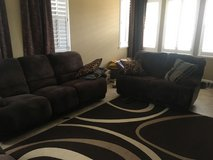 3 piece couch set - comfortable/foot rest in Travis AFB, California