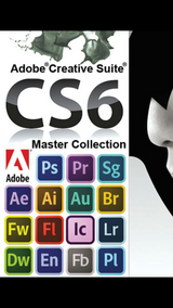 Adobe CS6 Master Collection program for sale. Comes with all Adobe programs shown in Savannah, Georgia
