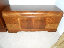 Lane Cedar Chest Waterfall Design - Manufactured before August 1947 in St. Louis, Missouri