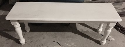 White bench. Great for project. Heavy/sturdy in Joliet, Illinois