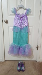 Disney Little Mermaid Dress, Shoes, and Crown in Sugar Grove, Illinois