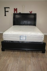 Leather and Wood Bed in CyFair, Texas