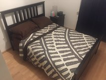 Hemnes Bed frame with mattress in Ramstein, Germany