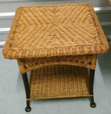 Rattan End Table in The Woodlands, Texas