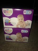 NIB Unopened Size 2 Baby Premium Diapers (86 count) in Fort Polk, Louisiana
