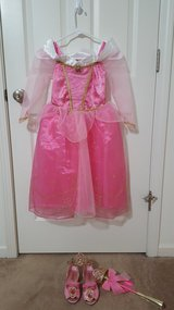 Disney Sleeping Beauty Dress, Shoes, Crown, and Wand in Sugar Grove, Illinois