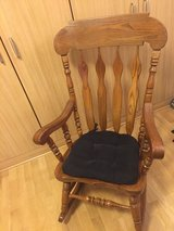 All wooden rocking chair in Ramstein, Germany