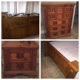 Bedroom set queen bed frame, mattress, dresser and nightstand or can also buy individually in Temecula, California