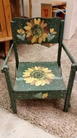 Chair-hand painted in Clarksville, Tennessee