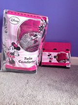 New! Twin Minnie Mouse Diva Comforter & Sheet in Fort Campbell, Kentucky