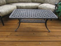 Black Metal Patio Coffee Table in Plainfield, Illinois