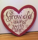 """""""Grow old along with me"""" Wall Plaque in Oswego, Illinois"""