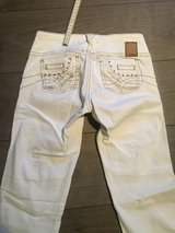 White stitched hip up jeans US 0-1 in Ramstein, Germany