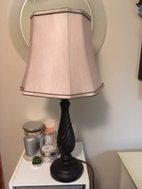 **Beautiful bedside table lamp and shade in Bartlett, Illinois