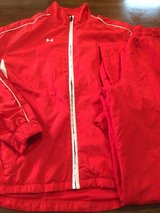 Women's Under Armour 2 Piece Red & White Track Suit sz Small in Clarksville, Tennessee