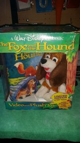 The Fox and the Hound vhs and Copper plush in Joliet, Illinois