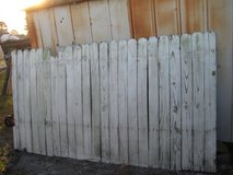 9 Wooden Fence Panels 4 Feet 3 inches Tall x 8 Feet Wide USED But STURDY in Camp Lejeune, North Carolina
