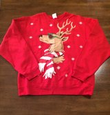 Women's Christmas Reindeer Sweatshirt sz Medium in Clarksville, Tennessee