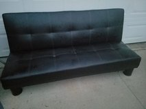 Black Leather Futon Sofa in Fort Campbell, Kentucky