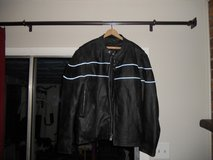 3 xl leather notorcycle jacket in Beaufort, South Carolina